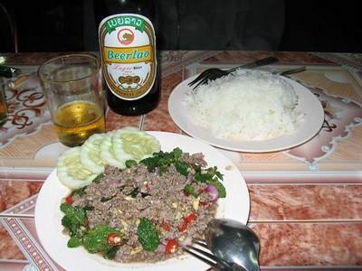 recette - laap au boeuf (laos)