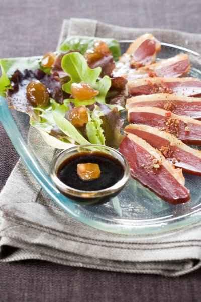 recette - magret de canard aux marrons confits