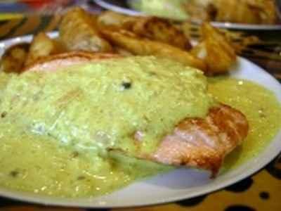 recette - pavés de saumon au curry