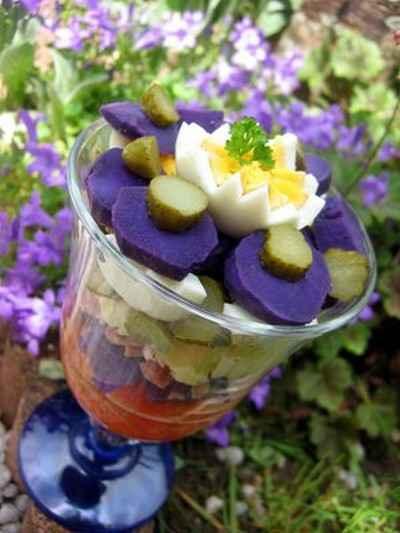 recette - piémontaise violette