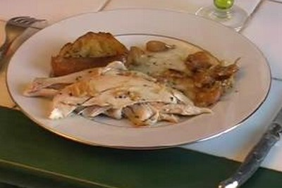recette - poulet au 40 gousses d'ail