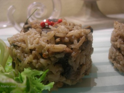 recette - risotto aux champignons