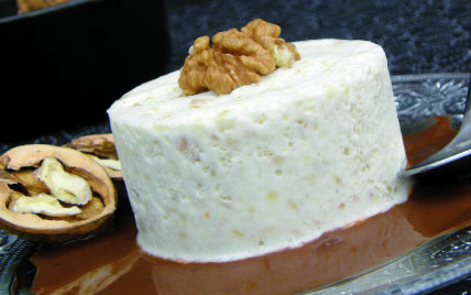 recette - souflé glacé au noix de grenoble