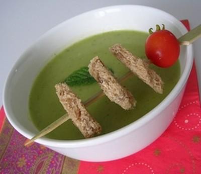 recette - soupe de courgettes à l'indienne