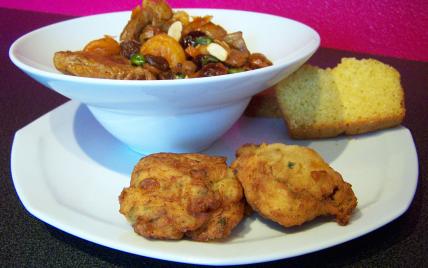 recette - stew d'agneau à ma façon, cornbread et galettes de pommes de terre