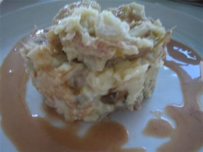 recette - stoemp de chicons et canard confit, sauce au hervé piquant