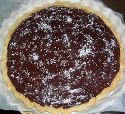 Recette tarte au chocolat sur lit de poires facile et rapide - Tarte aux chocolat facile ...