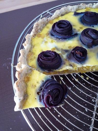 recette - tartes aux carottes purple haze et lentilles corail