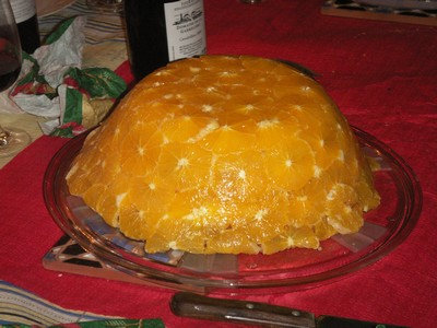 recette - bombe de noël à l'orange