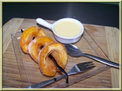 recette - brochettes d'abricots à la crème vanillée