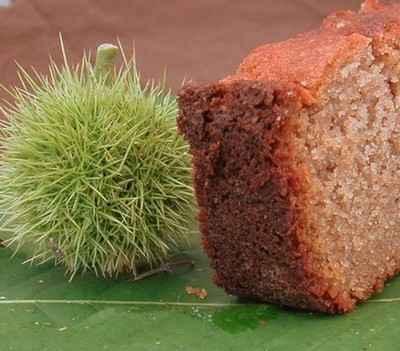 recette - cake à la farine de châtaigne