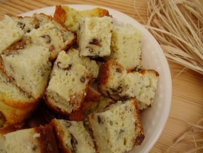 recette - cake  au roquefort et aux noix, aux parfums de miel et  de romarin