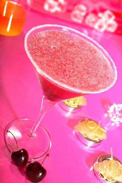 recette - cocktail aux sirops de cerise et pamplemousse