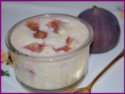 recette - crème d'amandes aux figues fraîches