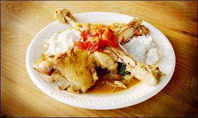 recette - cuisses de poulet au lait de coco