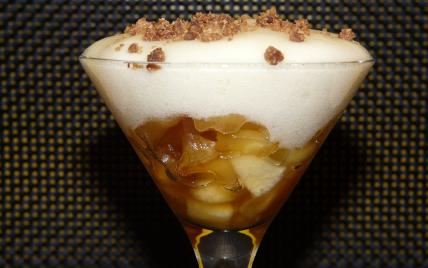 recette - espuma de pommes caramélisées.