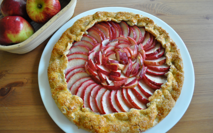recette - galette aux pommes rouges