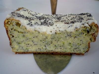 recette - gâteau de courgettes à la brousse et graines de pavot