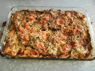 recette - gratin d'aubergine et tomates