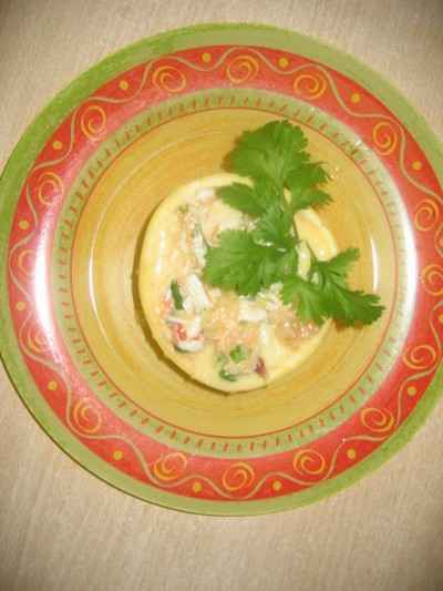 recette - pamplemousse au crabe