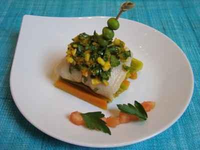 recette - petits roulés de sole à la grémolata, et légumes au curcuma