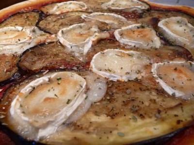 Recette pizza aux aubergines marin es grill es et au ch vre facile et rapide - Recette aubergine grillee ...
