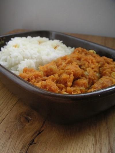 recette potiron à l'indienne: facile et rapide