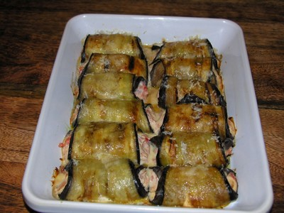 Recette rouleaux d 39 aubergines la tomate et ricotta facile et rapide - Cuisiner des aubergines au four ...