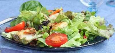 recette - salade aux coquilles st jacques et baies roses
