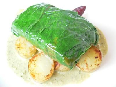 recette - saumon à l'oseille en habit vert