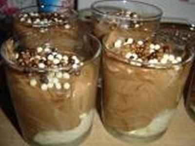 recette - soupe au chocolat, glace vanille
