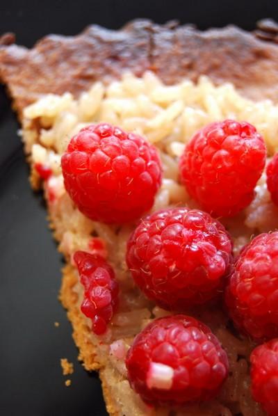 recette - tarte aux framboises façon teurgoule