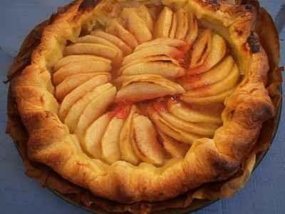 recette - tarte aux pommes de tata sonia