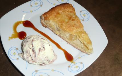 recette - tarte normande pommes, amandes et crème