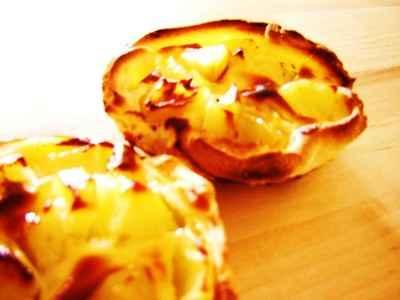recette - tartelettes aux pommes et fromage frais