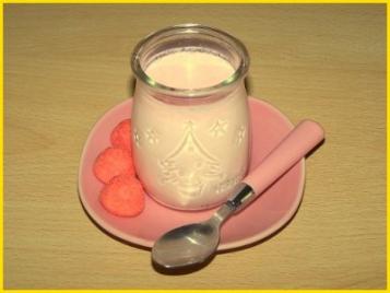 recette - yaourts aux fraises tagada