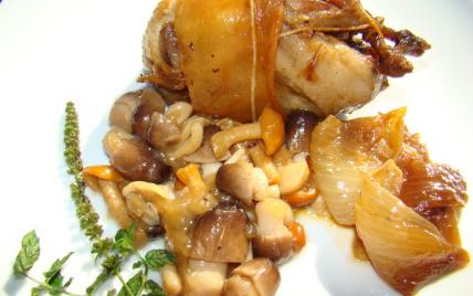 recette - cailles aux champignons