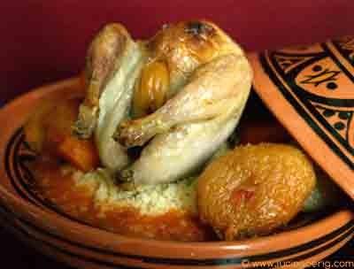 recette - cailles farcies aux abricots fondants, semoule aux saveurs orientales