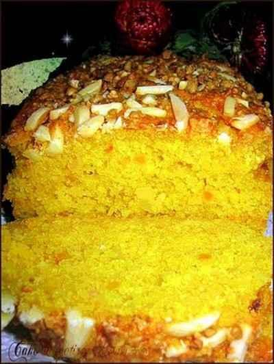 recette - cake au potiron et aux amandes