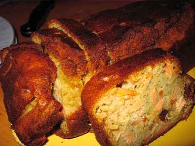 recette - cake au saumon ensoleillé