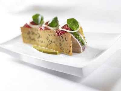 recette - 'casse croûte' de thon de méditerranée
