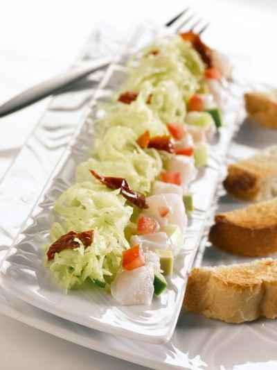 recette - choucroute au pistou & tartare de poisson