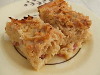 recette - clafoutis pomme paille aux groseilles