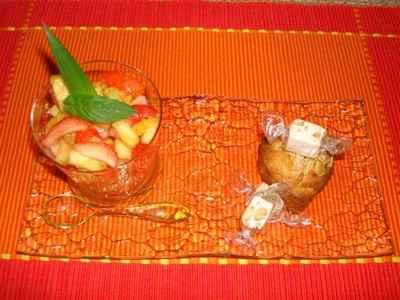 recette - coeurs de muffins au melon confit, pépites de nougat au miel de lavand