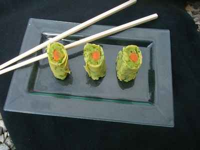 recette - comme un sushi aux légumes printaniers