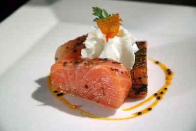 recette - coupe du tsar de saumon fumé au curcuma