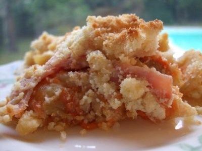 recette - crumble de potiron et de pomme de terre au bacon