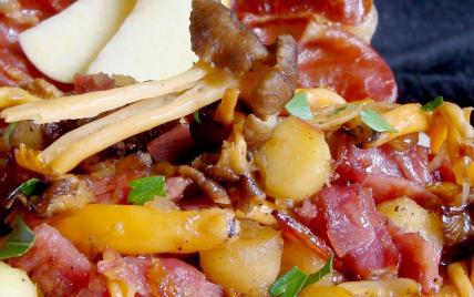 recette - fricassée de pommes au jambon d'ardenne