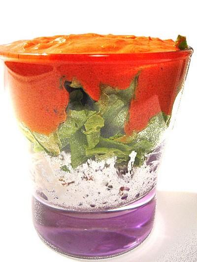 recette - gaspacho de tomates au chèvre