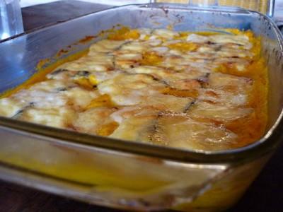 recette - gratin de potimarron au morbier et graines de tournesol